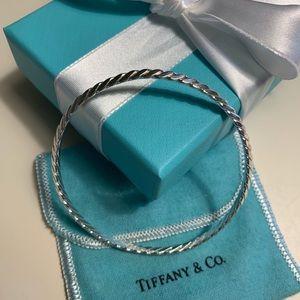 Tiffany sterling silver bangle.